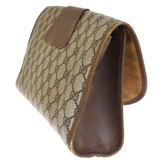 Gucci Gg Vintage Shelly brown Clutch Image 3