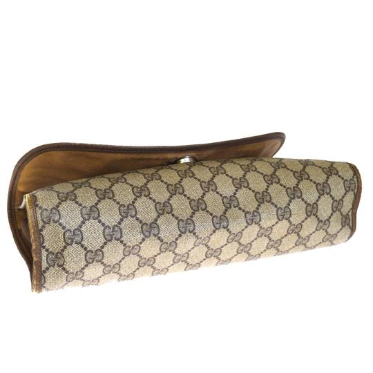 Gucci Gg Vintage Shelly brown Clutch Image 4