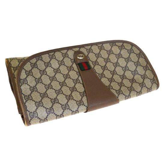 Gucci Gg Vintage Shelly brown Clutch Image 5