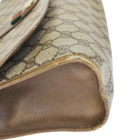 Gucci Gg Vintage Shelly brown Clutch Image 6
