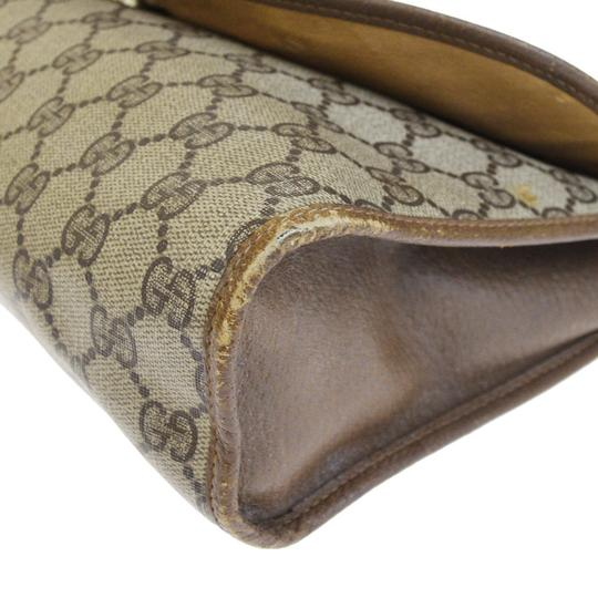 Gucci Gg Vintage Shelly brown Clutch Image 7