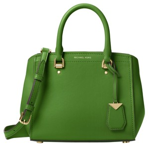 Michael Kors Leather 30t8gn4m2l Satchel in True Green