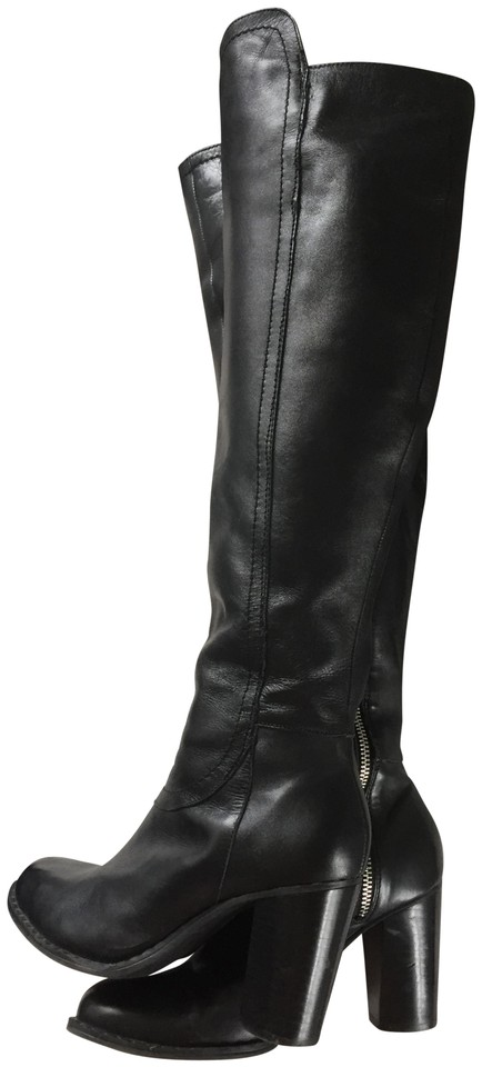 7e1de641d3a Adrienne Vittadini Black Leather Knee High Boots/Booties Size US 6 Regular  (M, B) 80% off retail