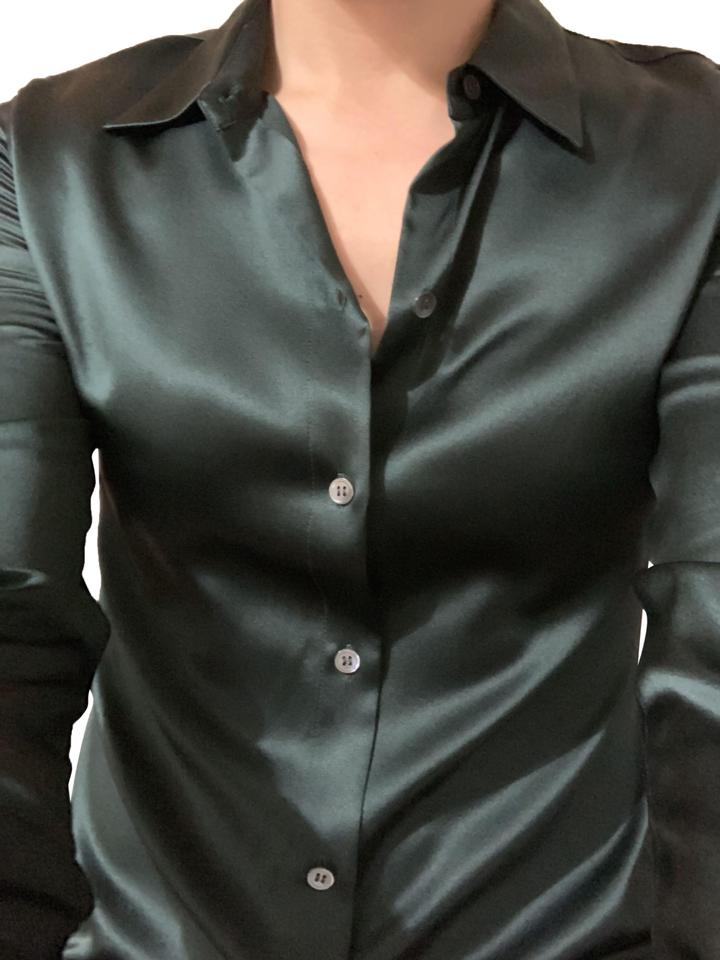 79e830fb6e5 Theory Black Perfect Fitted Shirt Button-down Top Size 8 (M) - Tradesy