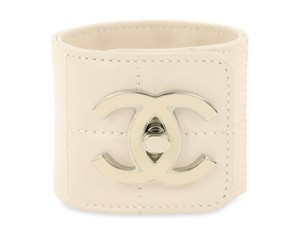 Chanel CC Chanel Turn lock Leather Cuff Wrist Bracelet
