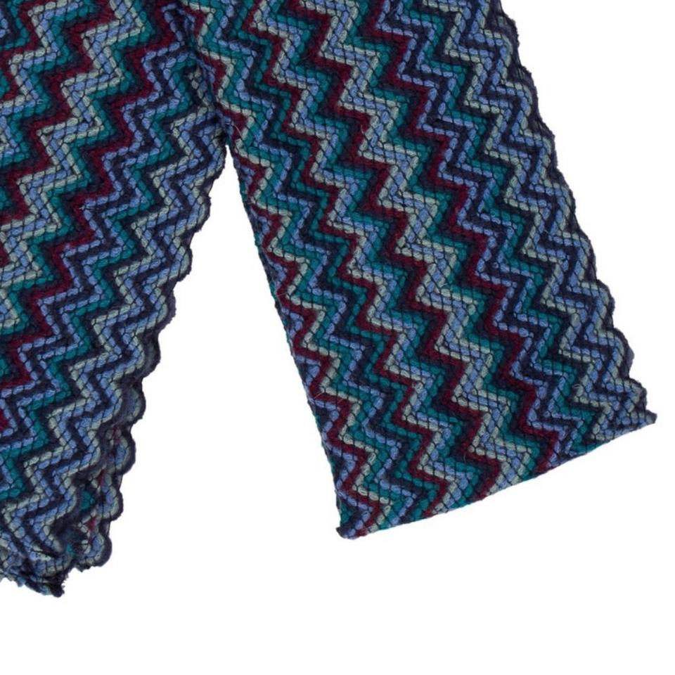 097a11a4cd Missoni Blue Multi-colored Chevron Pattern Scarf Wrap - Tradesy