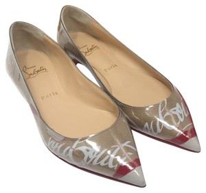 Christian Louboutin multi brown white red Flats