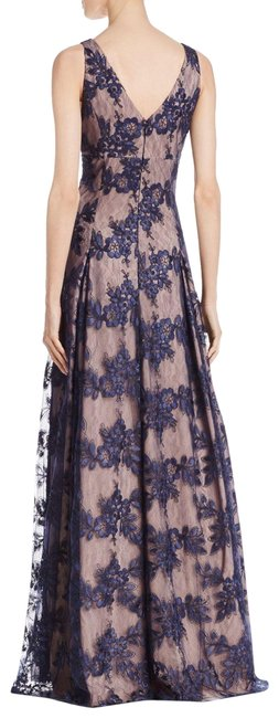 Item - Tan and Blues New Women's Long Formal Dress Size 6 (S)