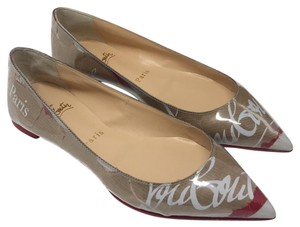 Christian Louboutin multi white red brown Flats