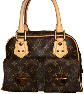 Louis Vuitton Satchel in Monogrammed Brown Canvas