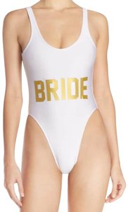 PRIVATE PARTY Private Party White Bride French Cut Swimsuit