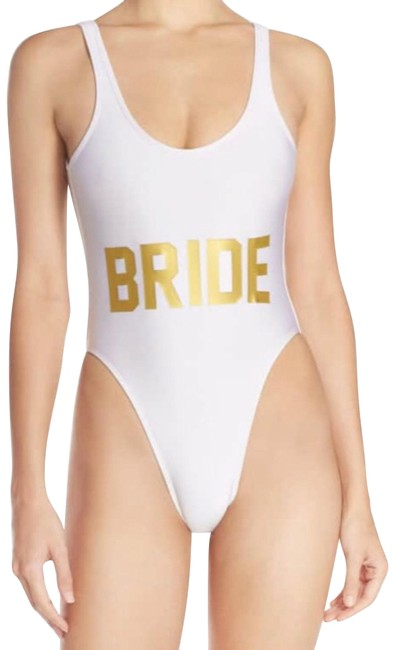 Item - White Bride French Cut Swimsuit One-piece Bathing Suit Size 4 (S)