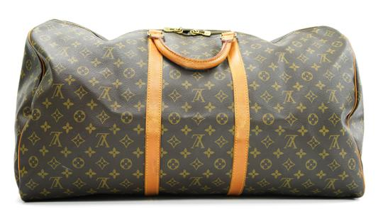 Louis Vuitton 60 Keepall Duffle Brown Travel Bag