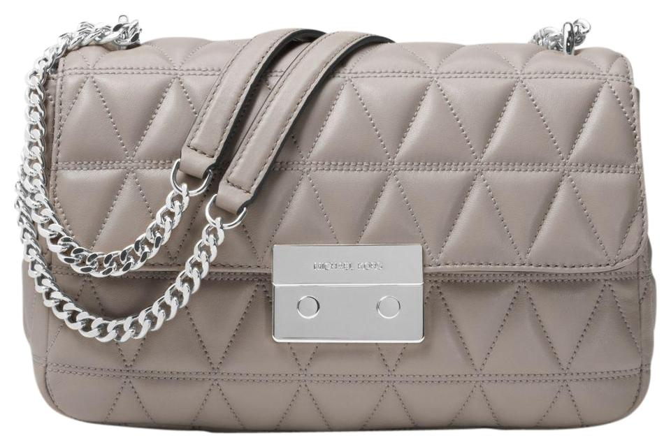 a61106ac3c77 Michael Kors Sloan Large Quilted-leather 30s7ssll3l Pearl Grey ...