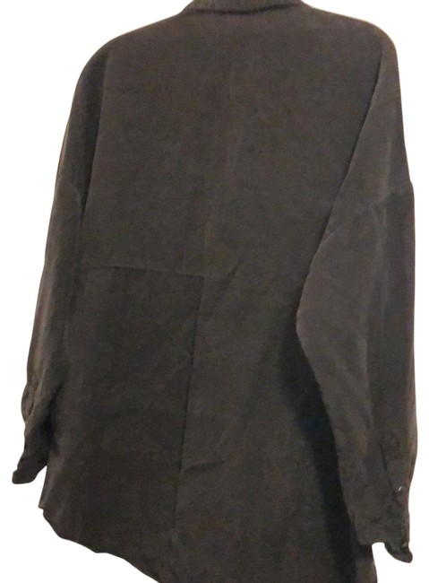 Item - Navy Silky Shirt Wore Only Once Button-down Top Size 6 (S)