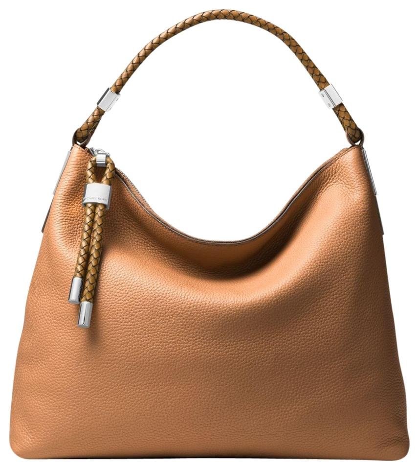 0ae7e16cc6cd Michael Kors Skorpios Large Pebbled Acorn Leather Shoulder Bag - Tradesy