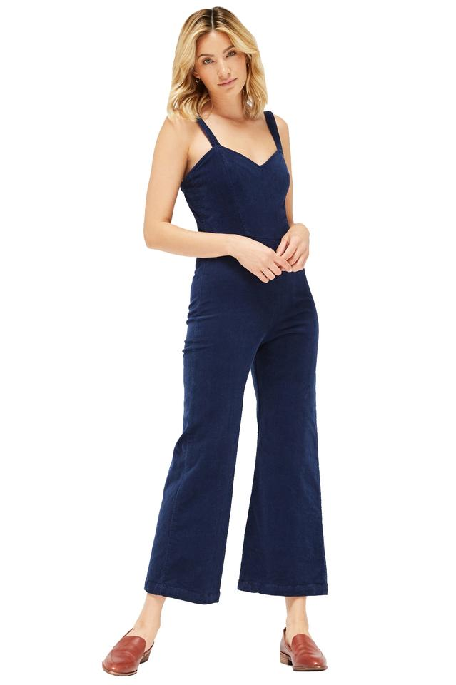 860f749d9bee LACAUSA Navy Rosie Corduroy Size 4 Romper Jumpsuit - Tradesy