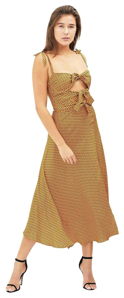 c1f74ddf Bec & Bridge Yellow Sun Valley Polka Dot Midi Mid-length Casual Maxi ...