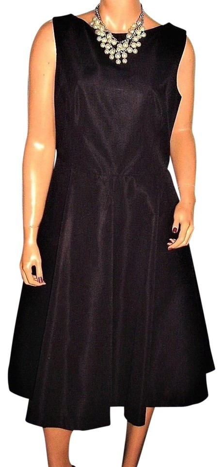 7edfc127f3c7 Isaac Mizrahi for Target Black Open Mid-length Cocktail Dress Size ...