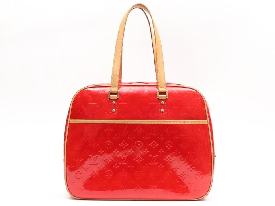 Louis Vuitton Monogram Vernis 6le0108 Red Patent Leather Shoulder ... 22973c390e
