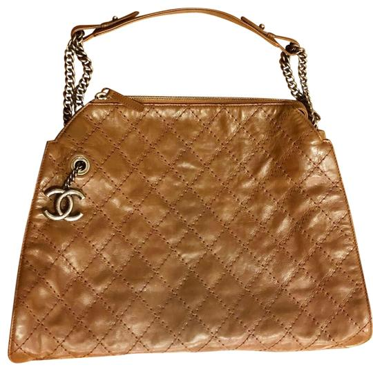Chanel Quilted Logo Brown Leather Shoulder Bag - Tradesy