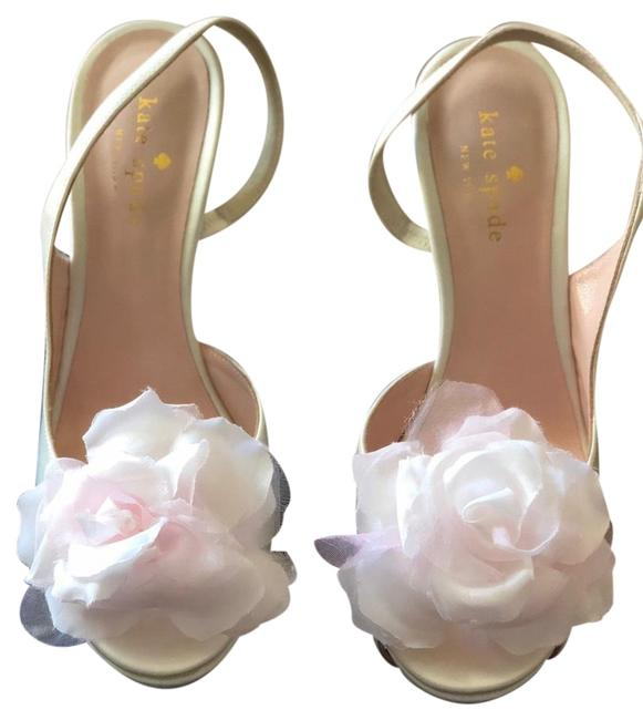 Item - Ivory Satin Camilla Formal Shoes Size US 6.5 Regular (M, B)