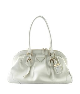 Prada Leather Gold-tone Pre-owned Satchel in Cream