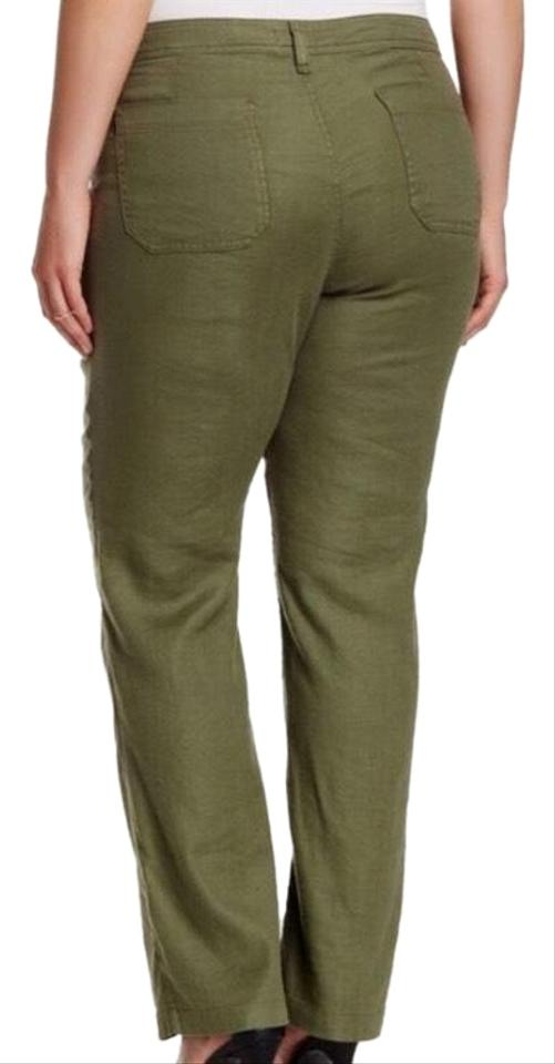 ee1efa7aed174 NYDJ Army Green Stretch Linen Pants Size 20 (Plus 1x) - Tradesy