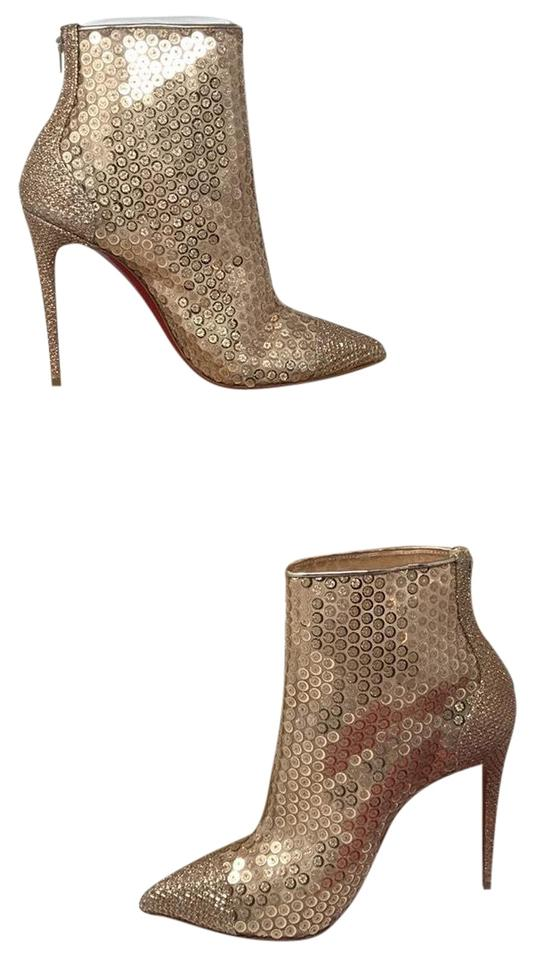 d83619ddff71 Christian Louboutin Gold New Nude Gipsybootie Spc 100 Boots Booties ...