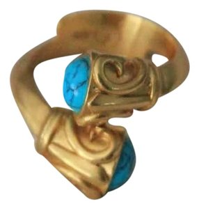 Julie Vos Julie Vos Turquoise and Gold Ring