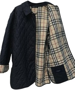 Burberry Quilted Dark Blue Jacket