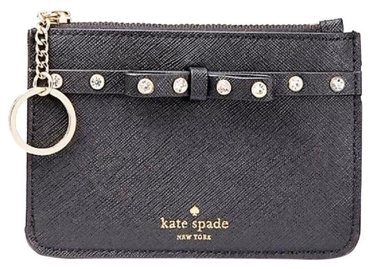 Preload https://img-static.tradesy.com/item/24654178/kate-spade-black-bitsy-laurel-way-jeweled-small-keycoin-purse-wallet-0-3-540-540.jpg