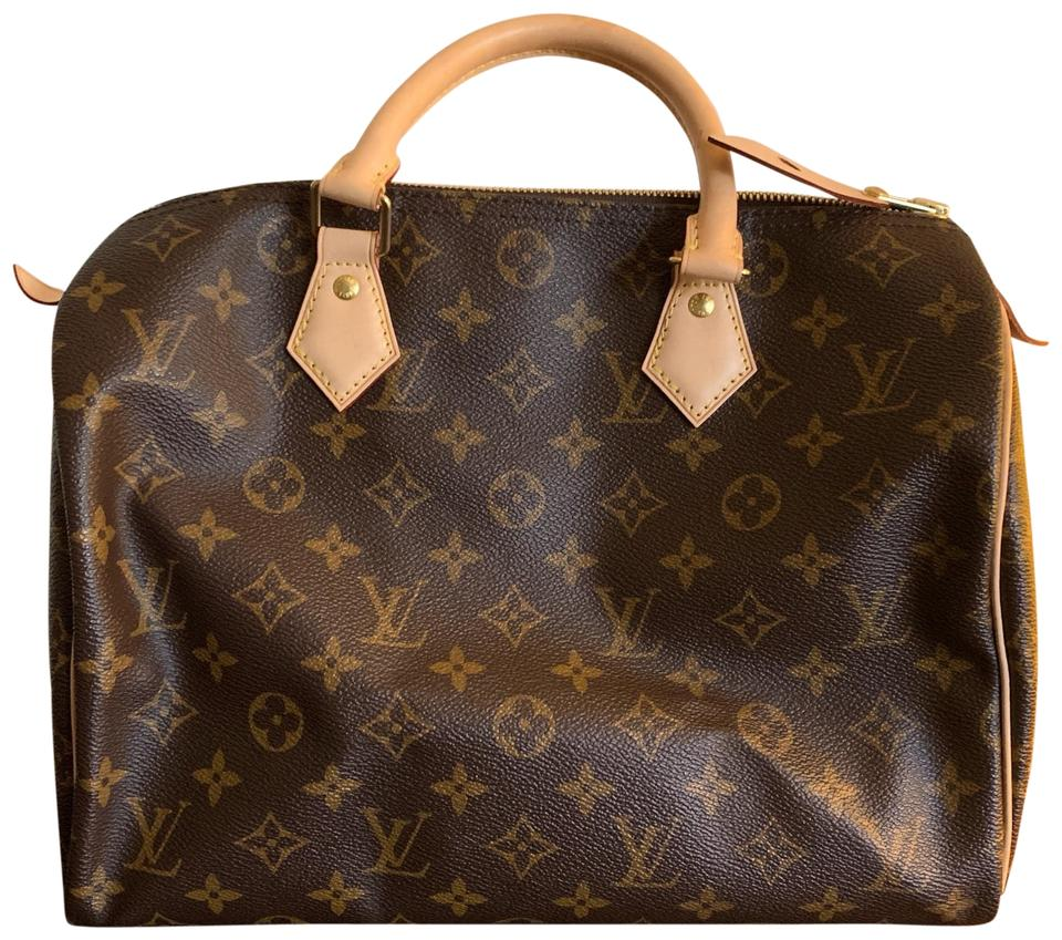 f288a90f1bd4 Louis Vuitton Speedy 30 Monogram Canvas and Leather Satchel - Tradesy
