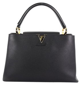 Louis Vuitton Handbag Leather Tote in black