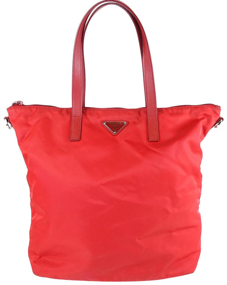 06fc6a79e7e3 Prada Shopping Red Nylon Tote - Tradesy