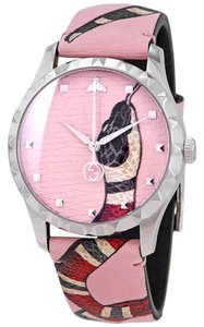Gucci Le Marche Des Merveilles Kingsnake Print Dial Leather Watch