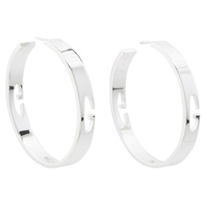 Gucci Interlocking G Gucci Large Hoop GG Sterling Silver Earrings