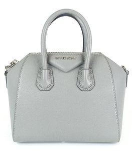 e2cdaa93008 Givenchy Pebbled Silver Structured Tote Mini Cross Body Bag