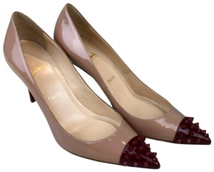 Christian Louboutin Patent Leather Geo Beige Pumps