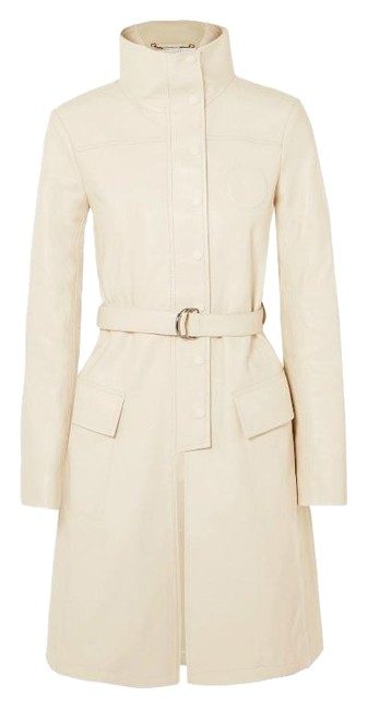 Preload https://img-static.tradesy.com/item/24654366/chloe-papyrus-white-belted-leather-coat-size-2-xs-0-1-650-650.jpg