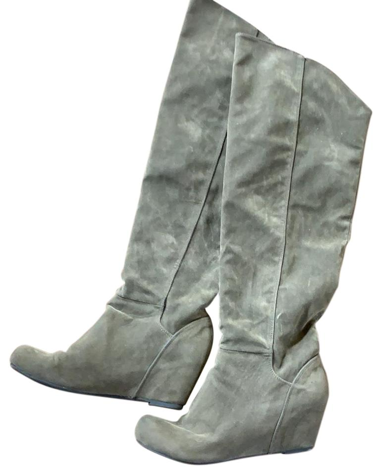 63b69cd77ab Steve Madden Grey Tall Wedge Boots Booties. Size  US 8 Regular (M ...