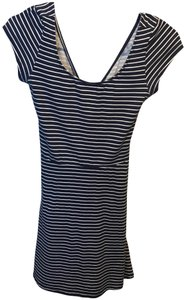 2772bb684b3 American Eagle Outfitters short dress Navy Blue and White Stripped on  Tradesy