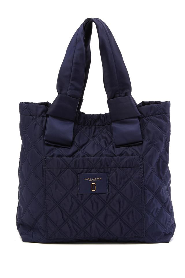 Marc Jacobs Diamond Quilted Tote Shopper Blue Polyester Shoulder Bag ... 3c13b79a40afa