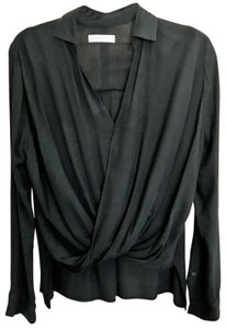 Abercrombie & Fitch Twist Front Work Tops Top Black
