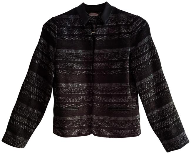 Item - New Black Label Metallic Fine Striped Tweed Fully Lined Substantial Dressy Casual Jacket Size 2 (XS)