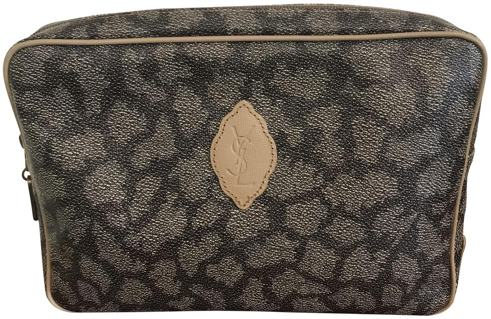 64444832c52a Saint Laurent Excellent Vintage Dressy Or Casual Clutch Cosmetic Ysl  Signature Print Chic European Style ...