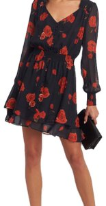 INTERMIX short dress black and red on Tradesy