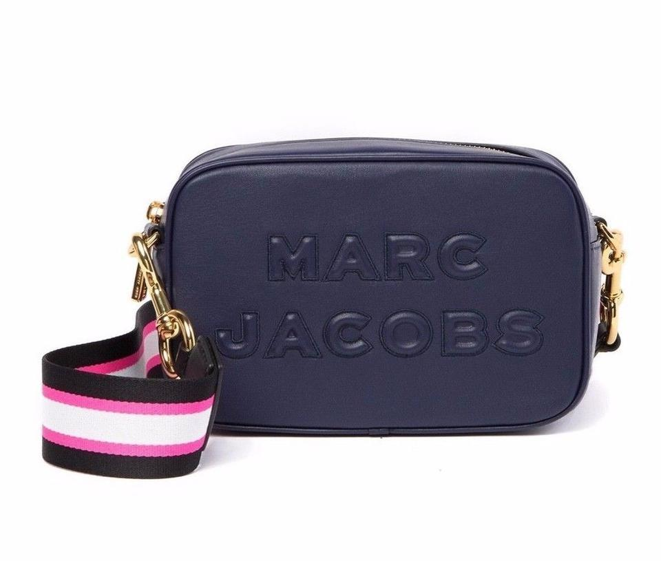 836554be0 Marc Jacobs M0014465 Flash Indigo Blue Leather Cross Body Bag - Tradesy