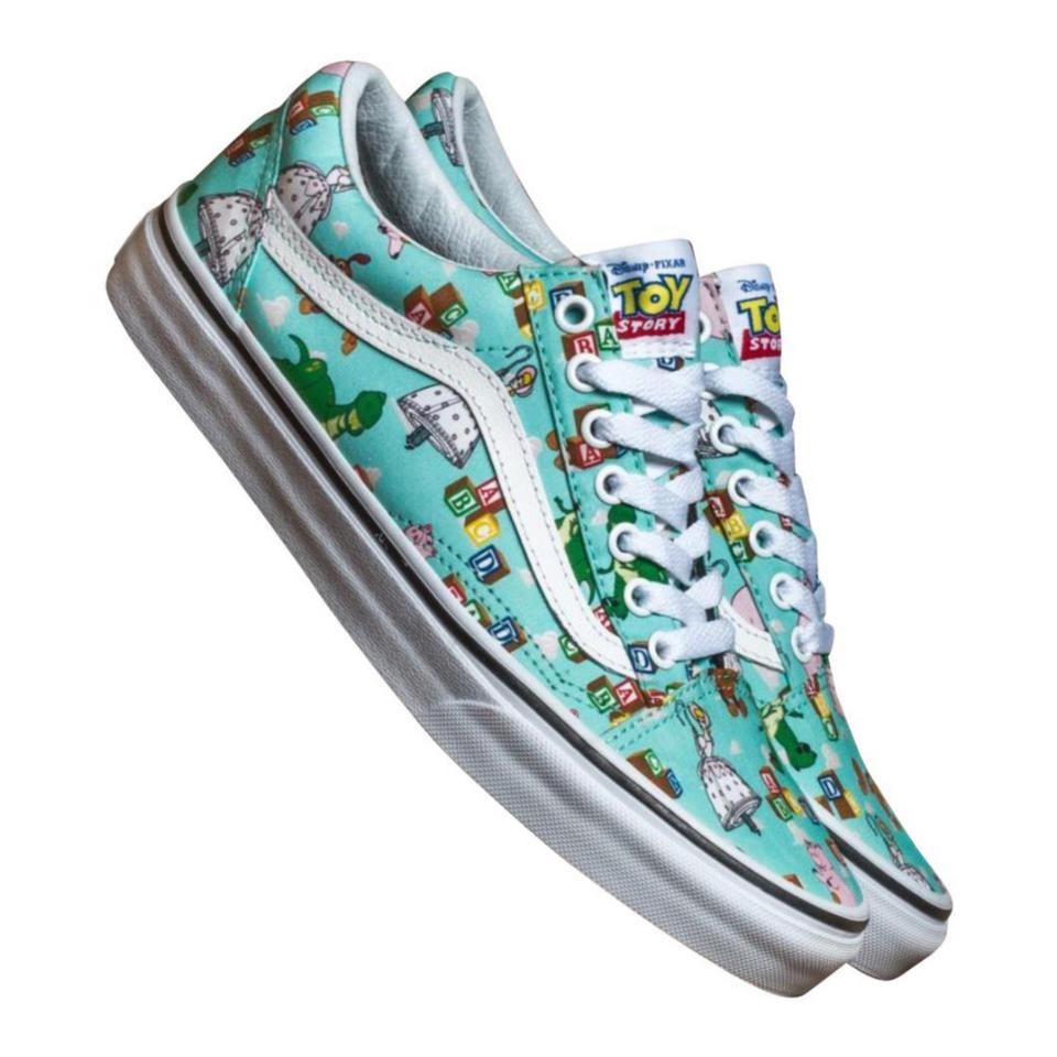 f75a16d44f Vans Green Disney Toy Story Andy s Toys Old Skool Sneakers Sneakers ...