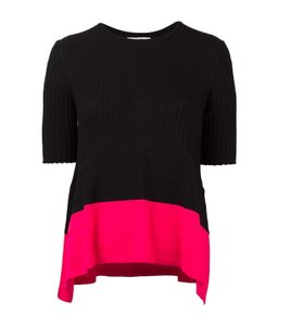 Opening Ceremony Knit Ribbed Shirt Top black